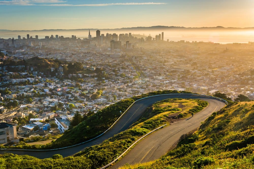View from Twin Peaks @shutterstock