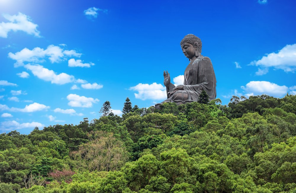 Giant Buddha/Po Lin Monastery in Hong Kong, Lantau Island. Best places to visit in Hong Kong in 4 days