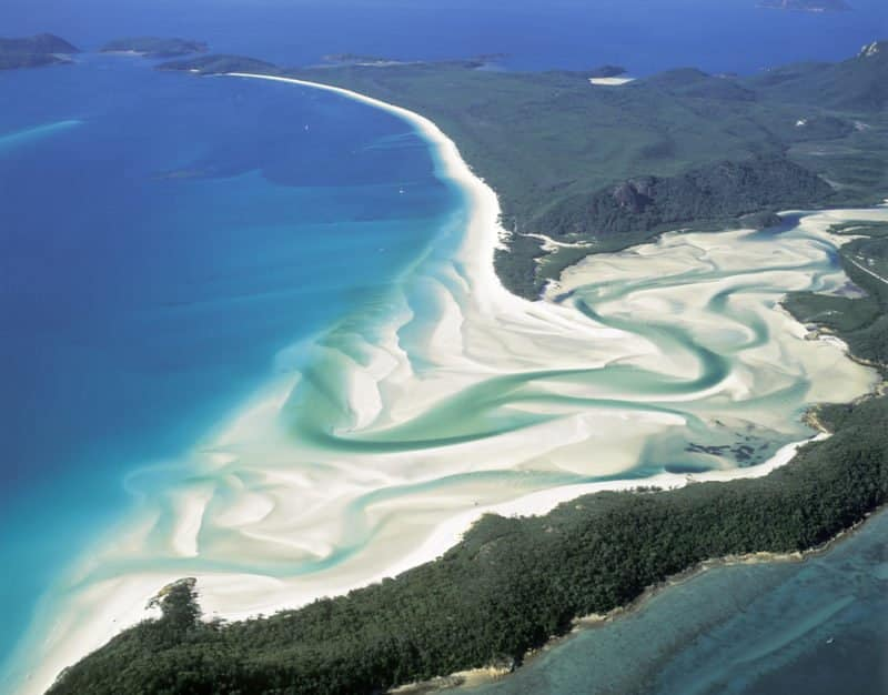 Whitehaven Beach on Whitsunday Island,Queensland,Australia