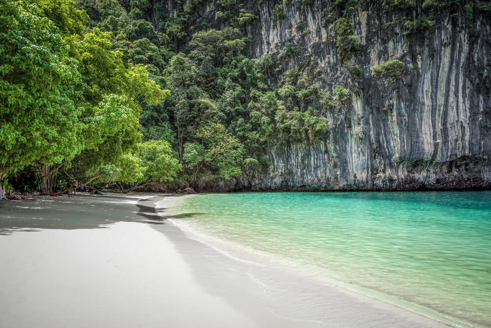 Beautiful beach on a Thai island in Phang Nga bay, Thailand