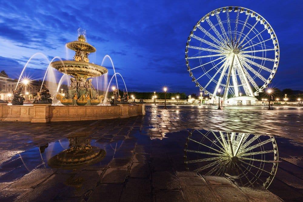 Ferris Wheel on Place de la Concorde in Paris