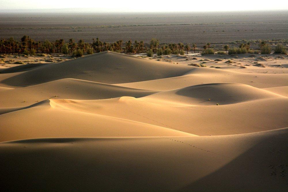 Desert in Iran. Bafgh Sand dunes near Yazd. Central Iran, Dasht-e Lut