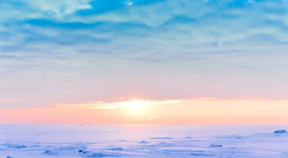 Arctic desert - cold ice desert @shutter stock