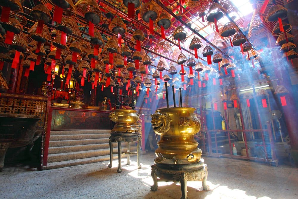 Man Mo Temple in Hong Kong, it is one of the famous temple, where to go in Hong Kong in 4 days
