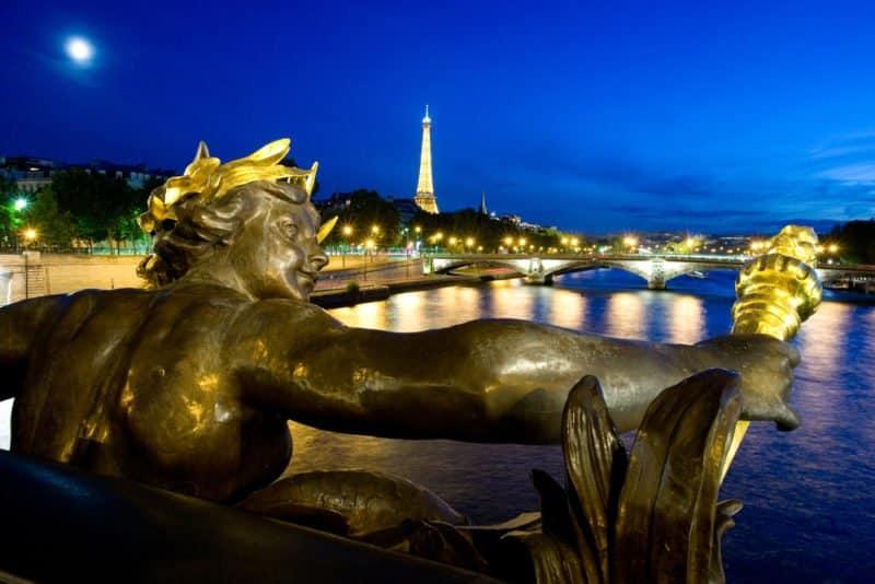 Seine River - View From Alexander III Bridge in Paris with the Eiffel tower @shutterstock