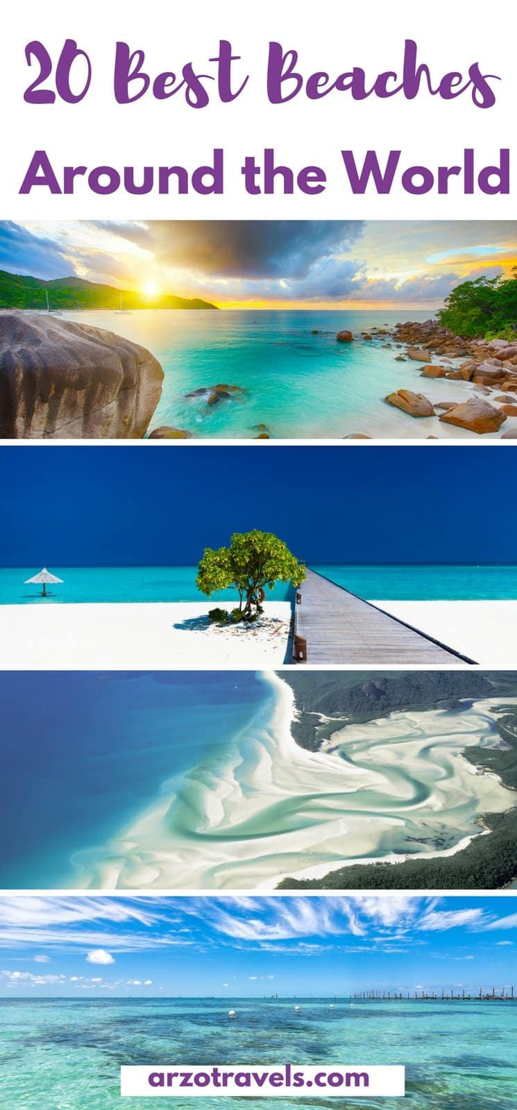 20 amazing beaches around the world - from Europe, to the USA, Australia, Africa, South America, Maldives and more.