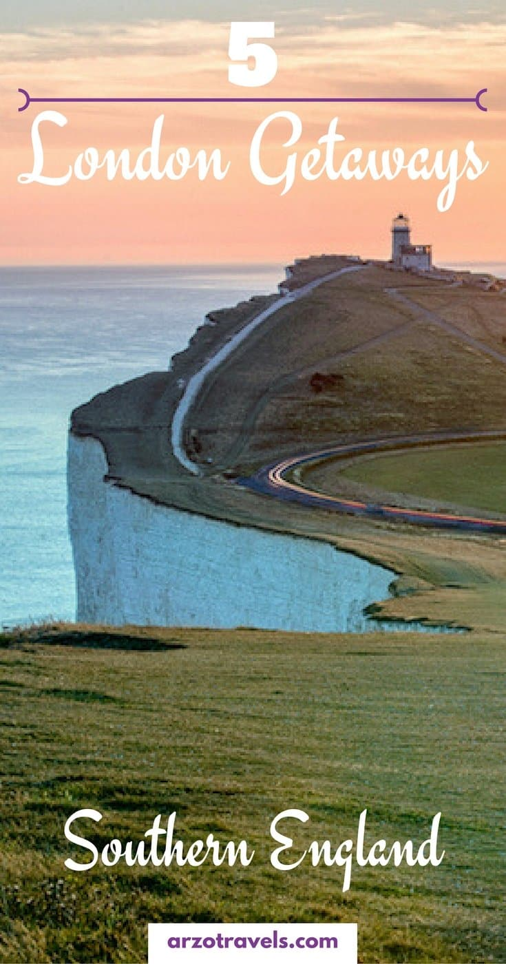 London Getaways - 5 ideas to escape London and explore the beautiful southern coast of England