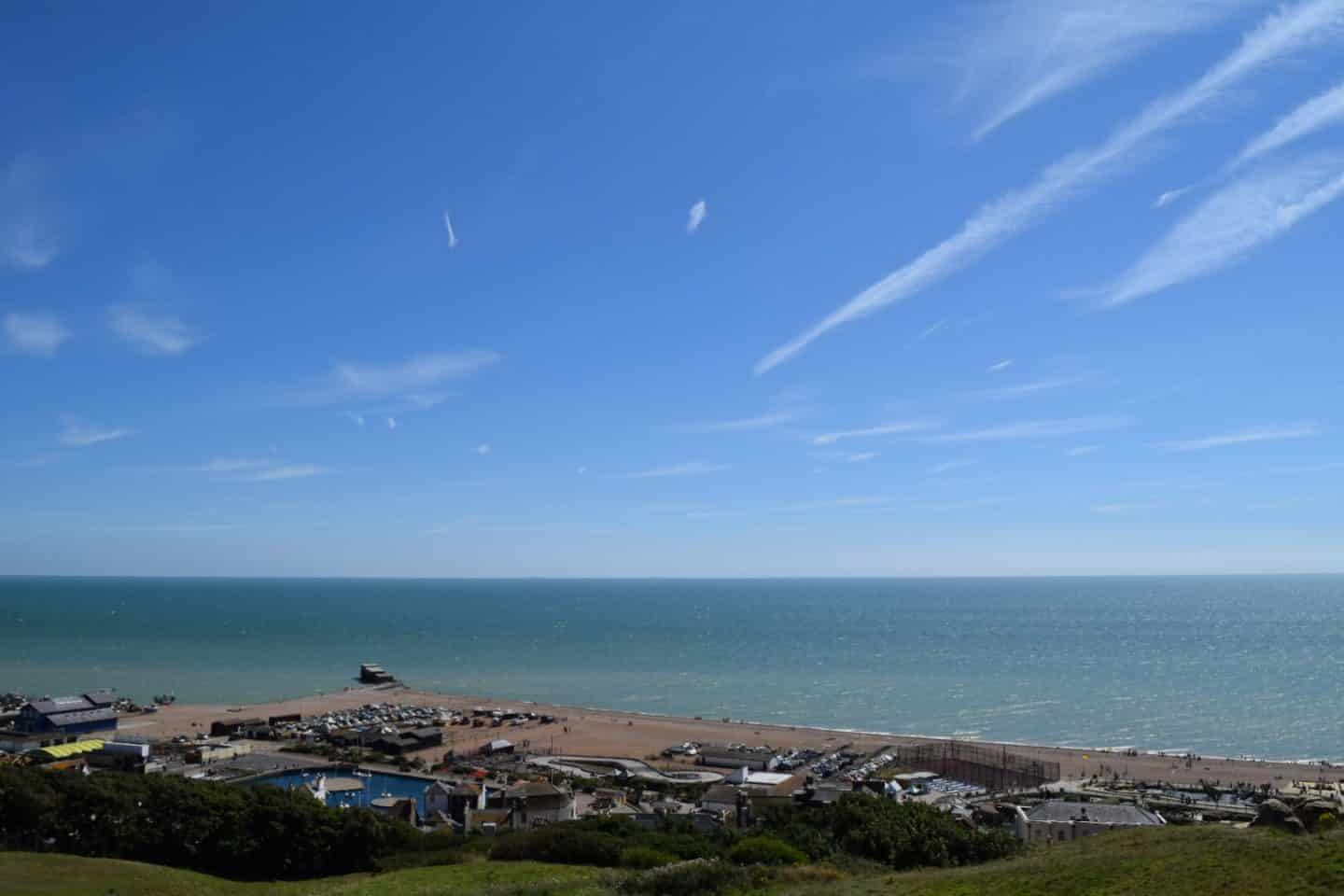 Hastings in the south of England - view from the top