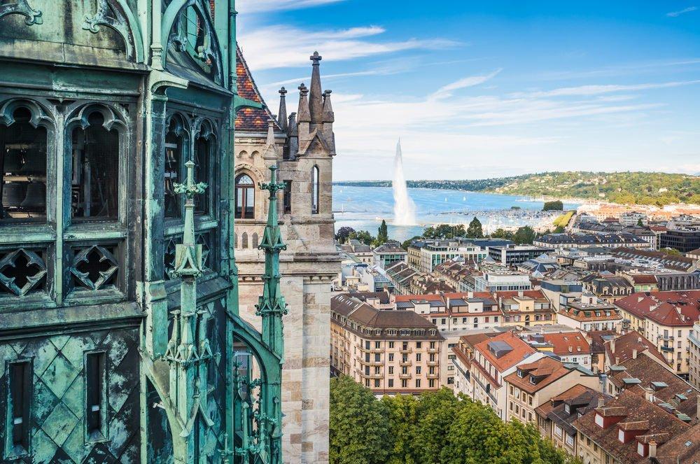 Geneva in summer, Switzerland
