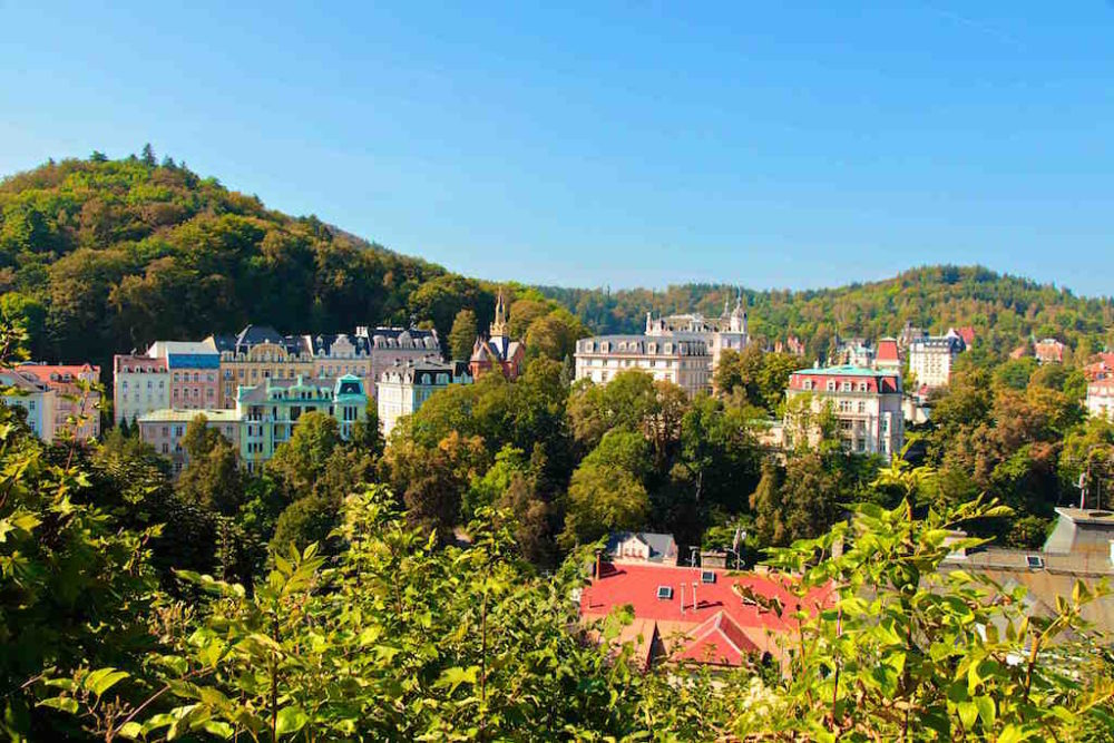 Karlovy Vary in the Czech Republic