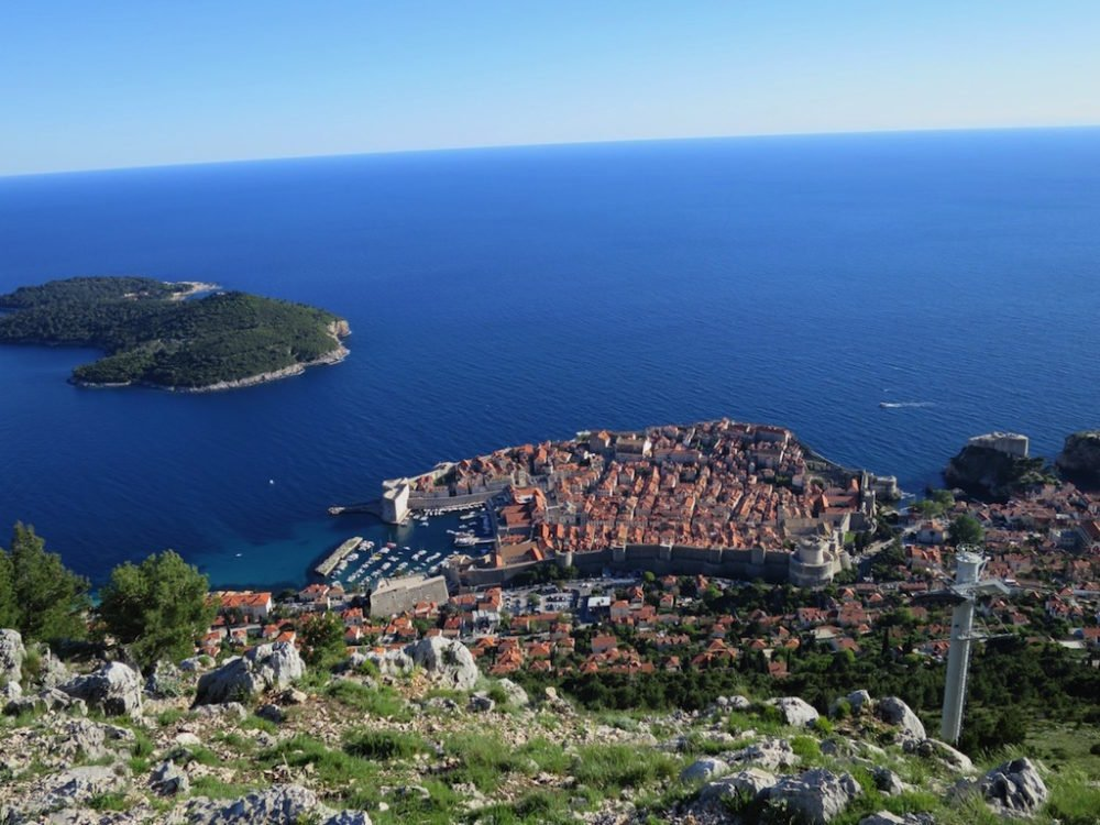 View over Dubrovnik Croatia