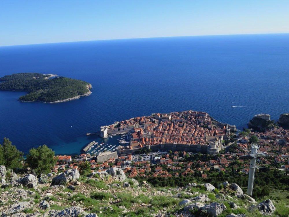 View over Dubrovnik Croatia