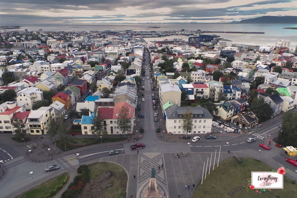 Colorful City of Reykjavik in Iceland