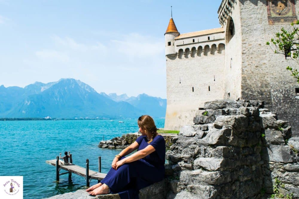 A castle with a view and a great Instagram spot in Montreux - things to see in Montreux Switzerland