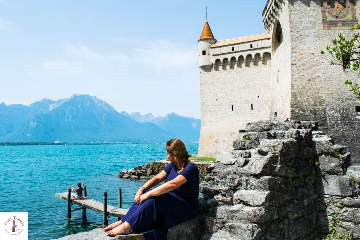 A castle with a view and a great Instagram spot in Montreux