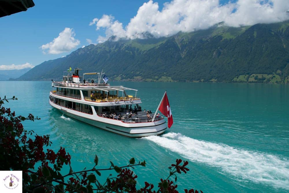 Arrive by boat at Grandhotel Giessbach or just do a boat tour on Lake Brienz