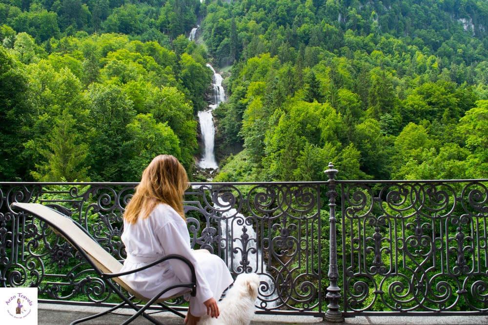 Balcony - Waterfall view room