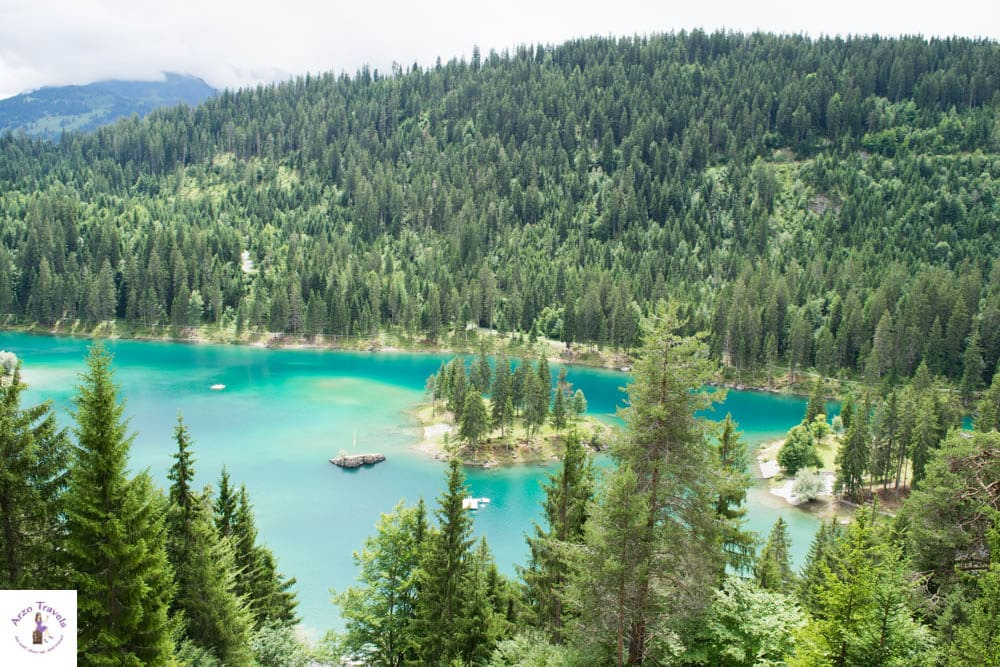 Beautiful Caumasee in Graubünden - best lakes in Switzerland