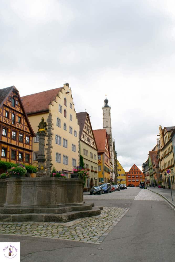 Beautiful Rothenburg in Bavaria