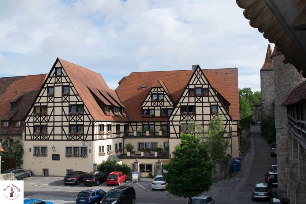 View From Town Wall - Beautiful houses in Rothenburg - Rothenburg things to do