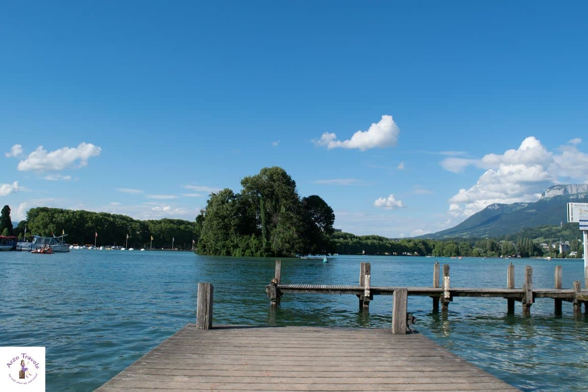 Chilling at Lake Annecy