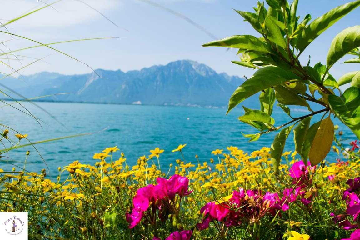 Colorful Montreux- it is all about flowers, the promenade and Lake Geneva