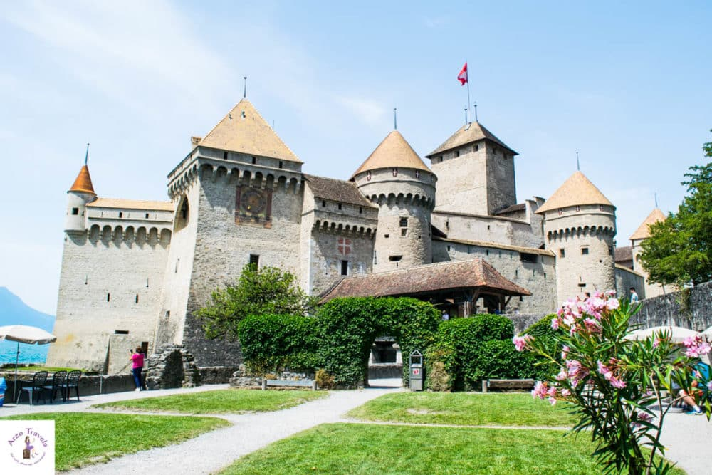 Chateaux de Chilean on the shore of Lake Geneva - best places in Switzerland