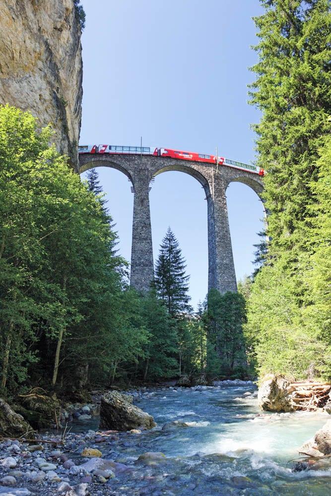 Glacier Express, Landwasserviadukt bei Filius, Graubünden / Picture Credit: Swiss Travel Pass AG