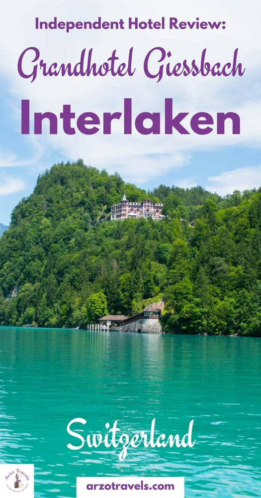 Grandhotel Giessbach in the region of Interlaken, Switzerland with a view of Lake Brienz. Accommodation in Interlaken. Where to sleep, a hotel review of the 4* hotel