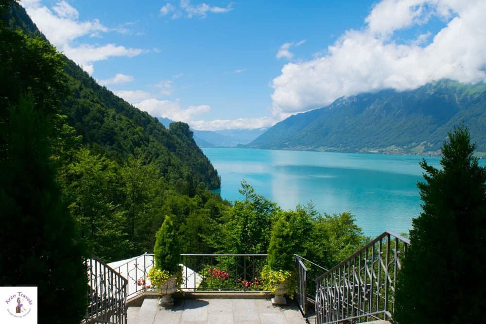 Hotel view of Lake Brienz