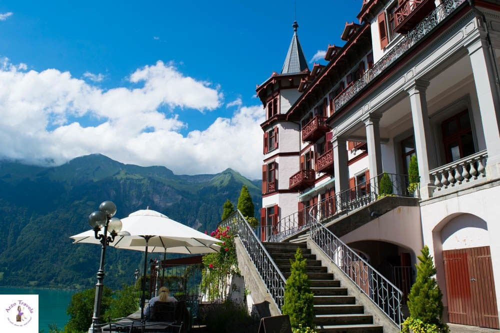 Grand hotel Giessbach in the region of Interlaken. A good hotel in Interlaken