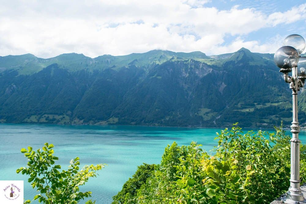 Lake Brienz at its best - view from Grandhotel Giessbach