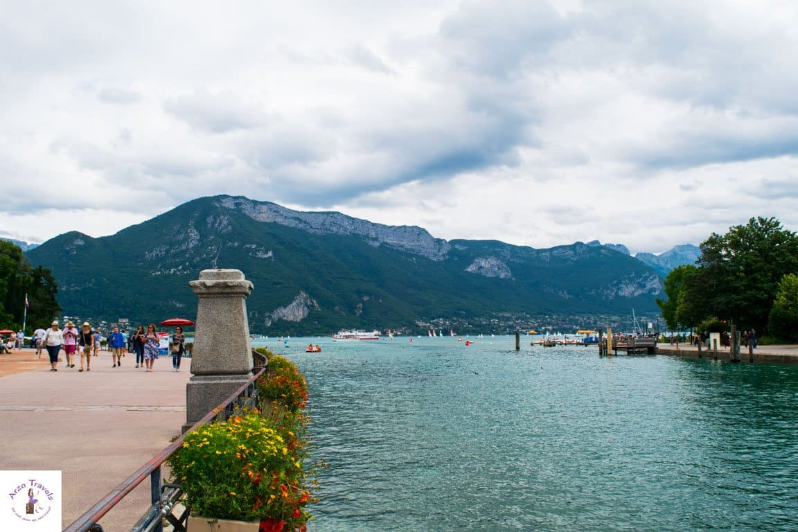 Lake d´Annecy in Annecy, France