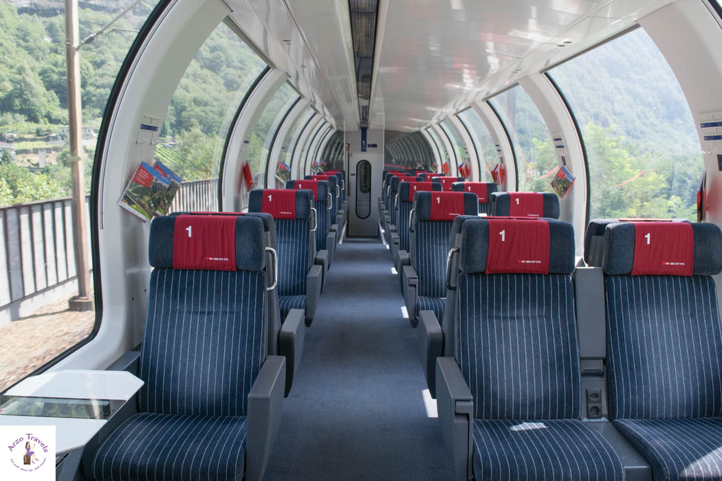 Panorama Trains in Switzerland - this was taken inside a Gotthard Panorama Express