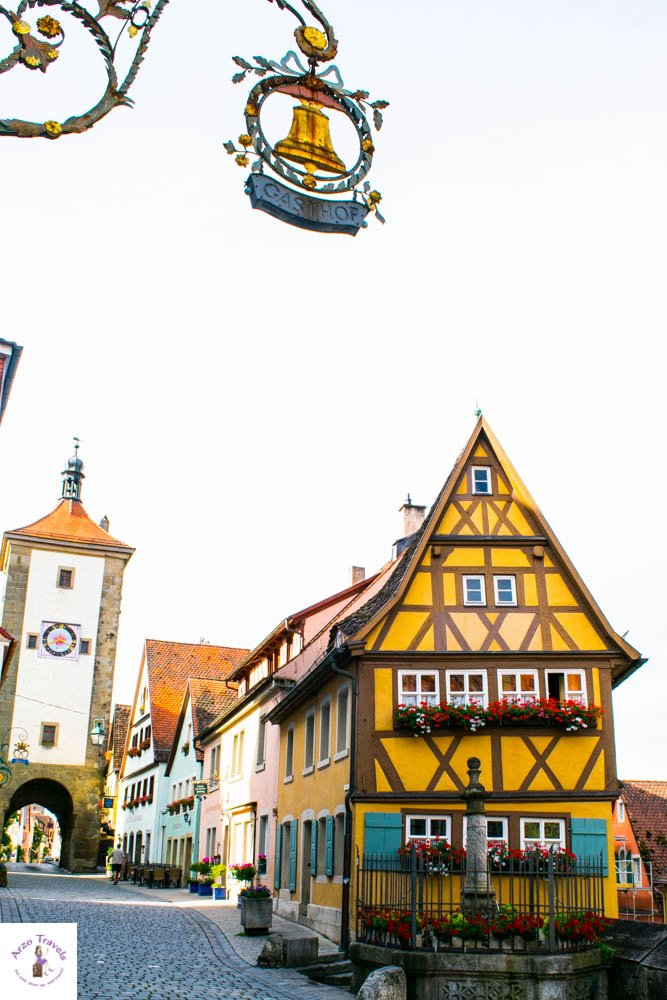 Plönlein in - Most Photographed Building in Rothenburg ob der Tauber