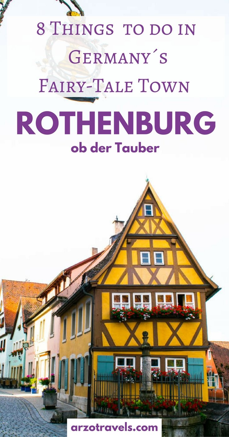 Rothenburg ob der Tauber - the most romantic and fairy-tale town in Germany. Things to do and see in 36 hours in RoT.