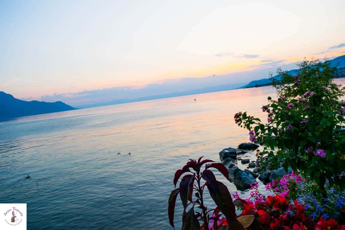 Sunset in Montreux Switzerland