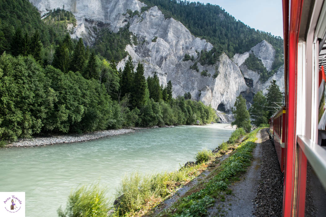 The Rhine Gorge in Graubünden - one of the most scenic routes