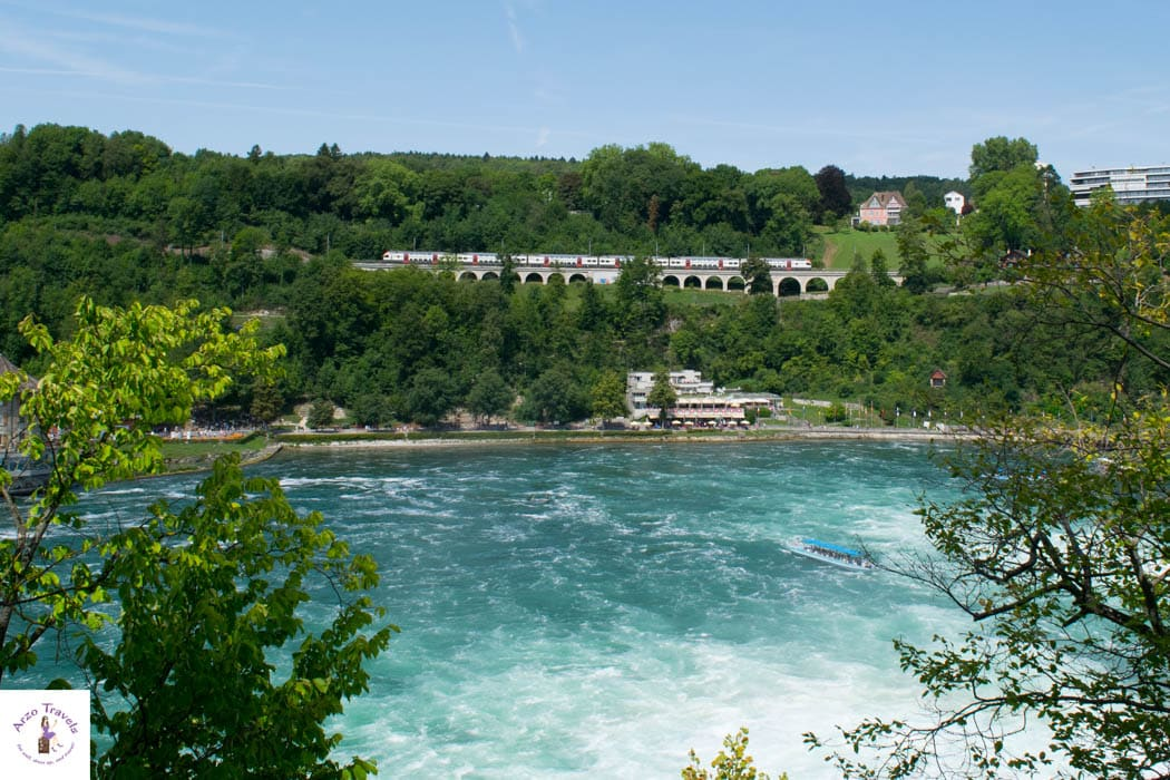 Grand Train Tour in Schaffhausen - Train pass the Rhine Falls