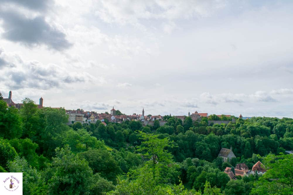 View from the Burggarten in Rothenburg - things to do in Rothenburg Germany