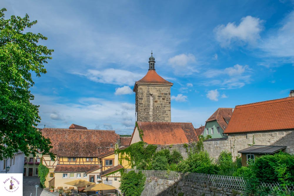 View from the Town Wall in Rothenburg