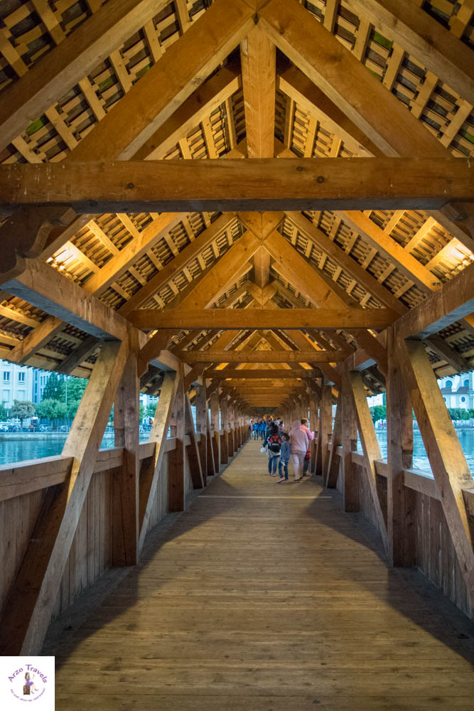 Wooden Bridge in Lucerne Kappellbrücke