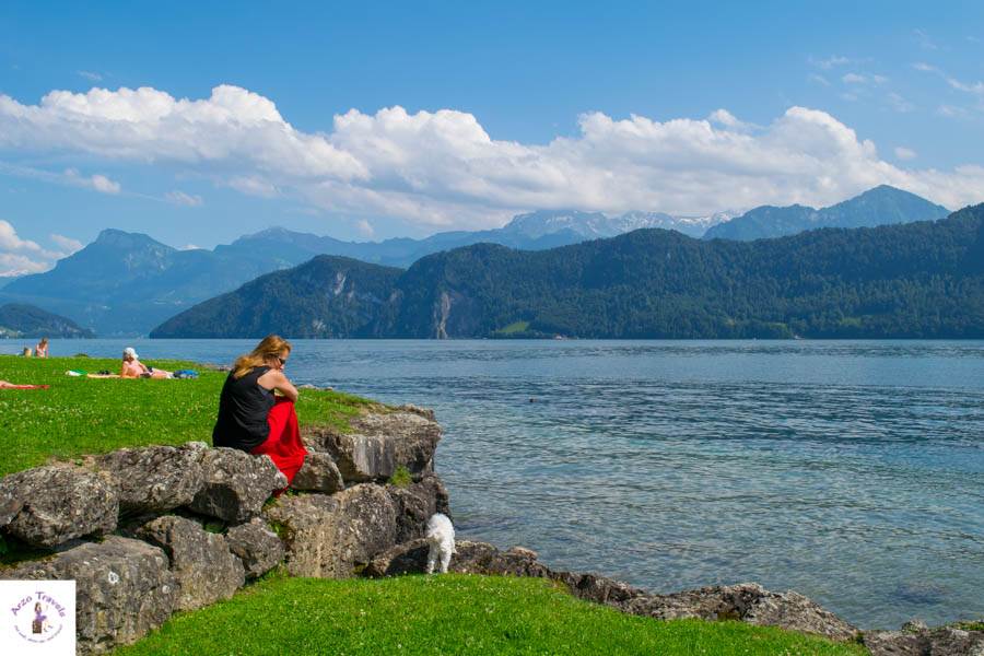 Places to visit in Lucerne Switzerland Weggis Lido