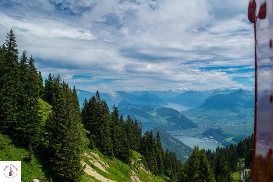 Getting up on Mount Pilatus