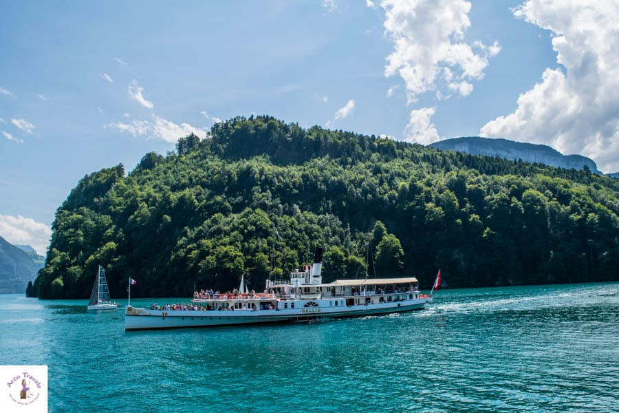 Steam boat on Lake Lucerne