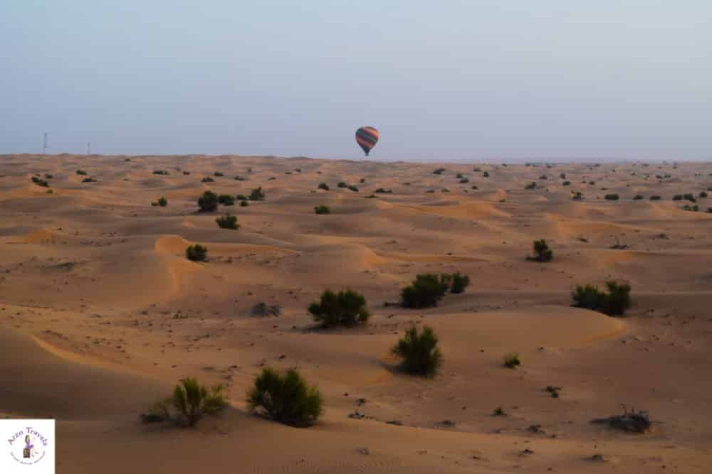 What to do in Dubai - hot air balloon ride