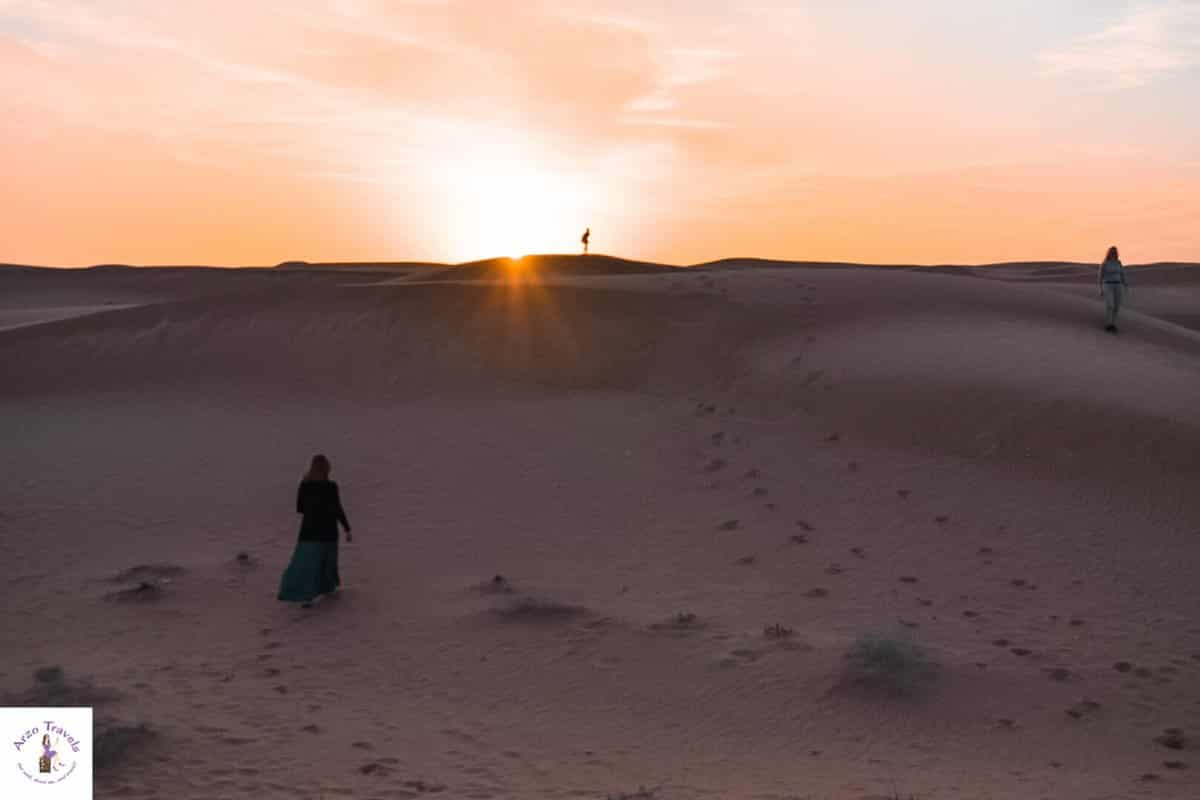 Sunset in Dubai´s Desert