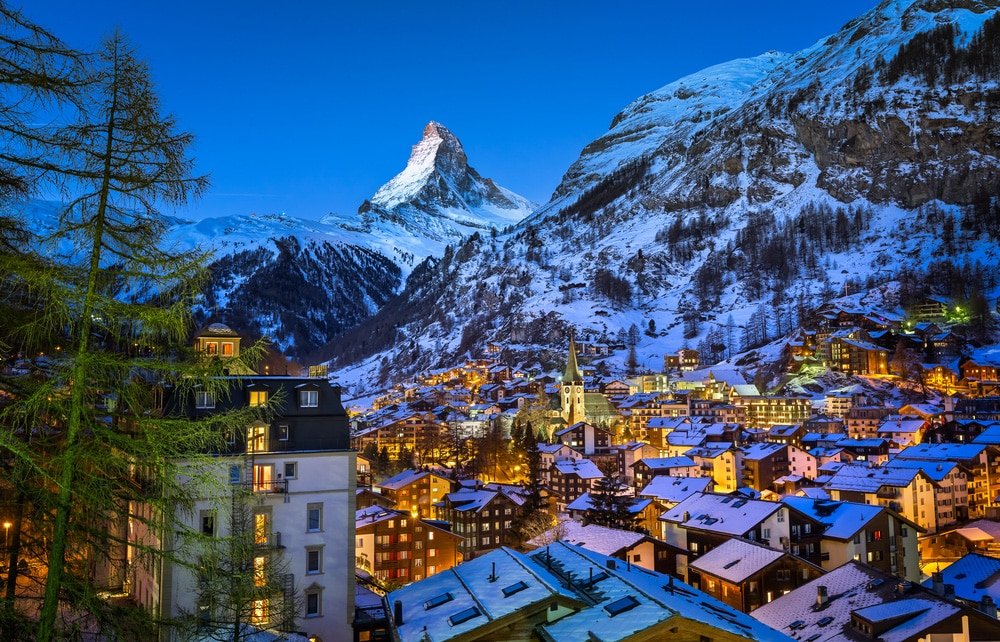 Bets holiday places in Switzerland Zermatt