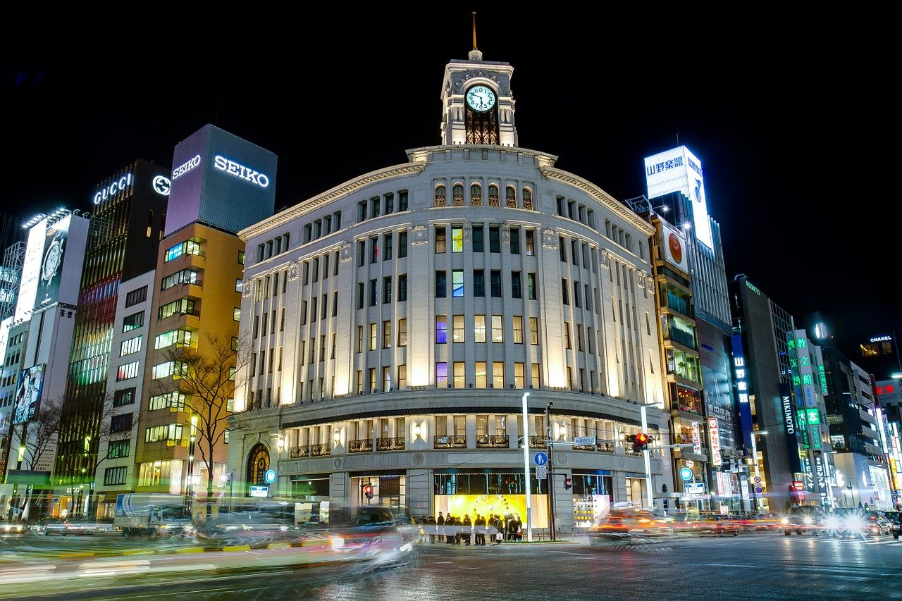 Ginza Shopping Mall in Tokyo - where to go in Tokyo