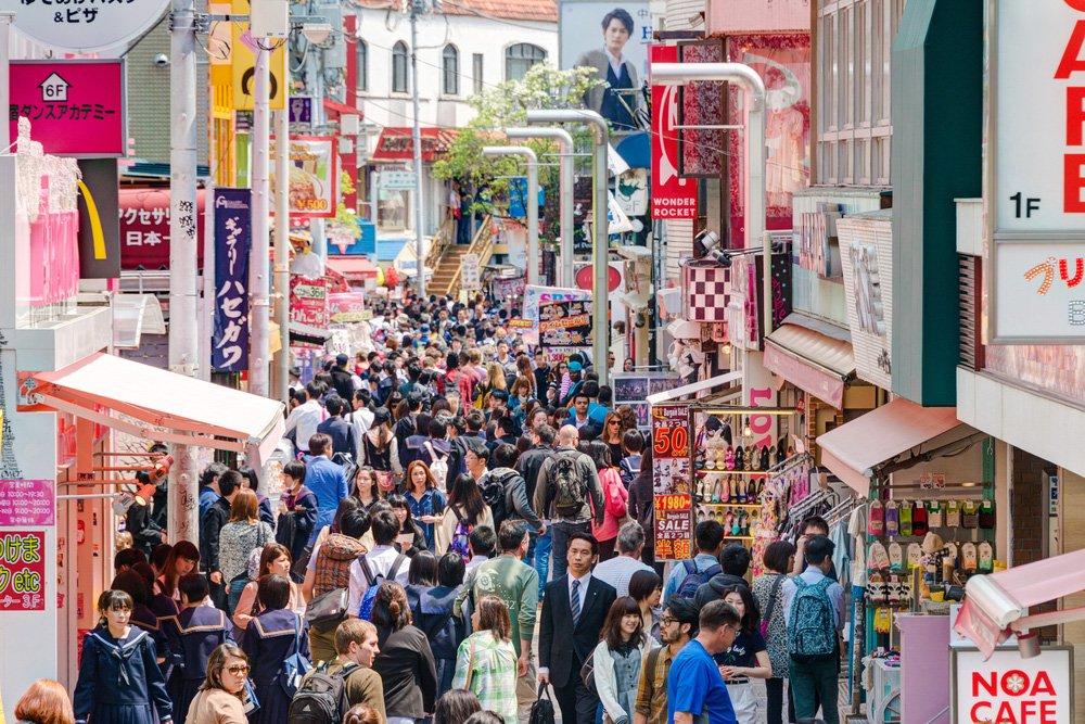 @shutterstock TAKESHITA STREET solo travel in Tokyo
